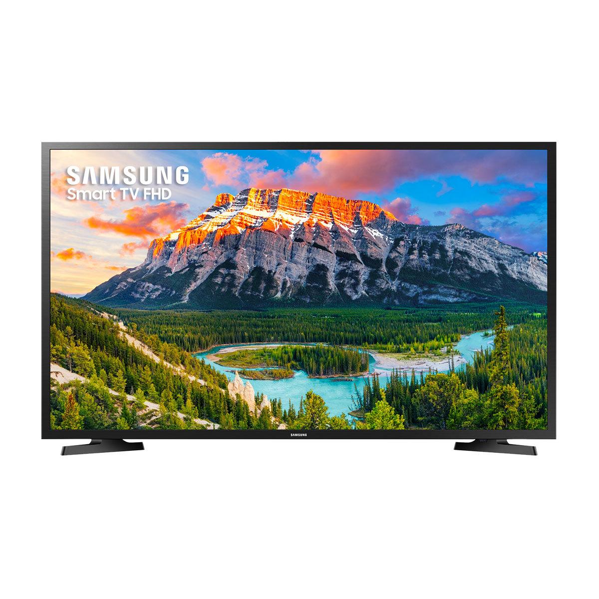 Smart TV LED 43″ Samsung UN43J5290AGXZD Full HD 2 HDMI 1 USB Preta com Conversor Digital Integrado