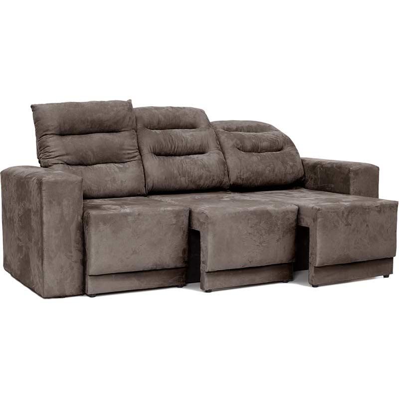 Sofá Retrátil e Reclinável 3 Lugares Infinity