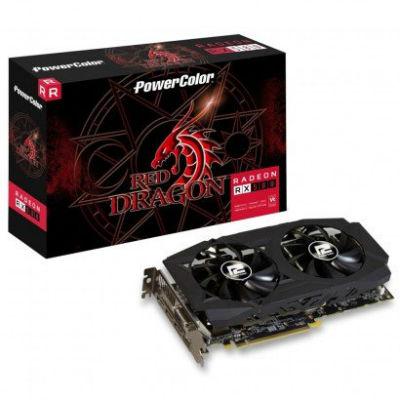 Placa de Vídeo PowerColor Radeon RX 580 Red Dragon 8GB AXRX 580 8GBD5-3DHDV2/OC