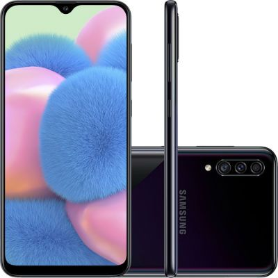 Smartphone Samsung Galaxy A30s 64GB Dual Chip Android 9.0 Tela 6.4″ Octa-Core 4G Câmera Tripla 25MP + 5MP + 8MP – Preto