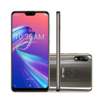 Smartphone Asus ZenFone Max Pro M2 64GB Titanium Tela 6.26 Pol. Câmera Dupla 12MP Selfie 13MP Android 9.0