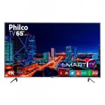 Smart TV LED 65″ Philco PTV65F60DSWN Ultra HD 4K 3 HDMI 2 USB Preta e Cinza com Conversor Digital Integrado