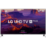 Smart TV LED 50″ LG 50UK6510 Ultra HD 4k com Conversor Digital 4 HDMI 2 USB Wi-Fi ThinQ AI WebOS 4.0 60Hz Inteligencia Artificial – Prata