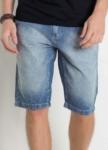Bermuda Jeans com Bolsos Frente e Costas