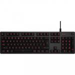 Teclado Gamer G413 Mecânico Carbon com Iluminação Vermelha, USB Passthrough e Switch Exclusivo Romer – Logitech G