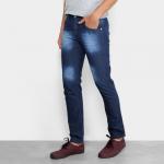 Calça Jeans Slim Preston Bigode Masculina – Azul