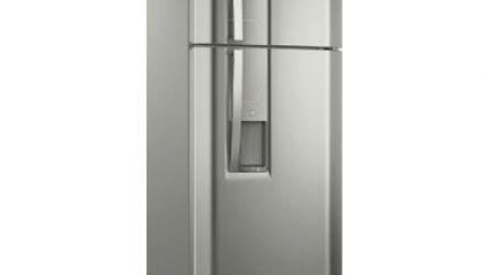 Geladeira/Refrigerador Electrolux 382 litros TW42S Inox Top Freezer Com Dispenser De Água