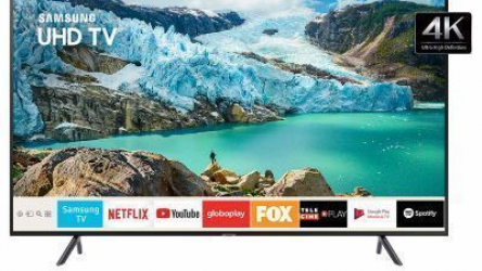 "Smart TV 4K Samsung LED 58"" com Visual Livre de Cabos, HDR Premium, Controle Remoto Único e Wi-Fi – UN58RU7100GXZD"