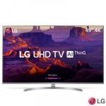 Smart TV 4K  LG 49″ LED 49UK7500 HDR Ativo, 4 HDMI e 2 USB
