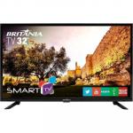 Smart TV LED 32″ Britânia BTV32G51SN HD com Conversor Digital 2 HDMI 1 USB Wi-Fi Áudio Dolby – Preta