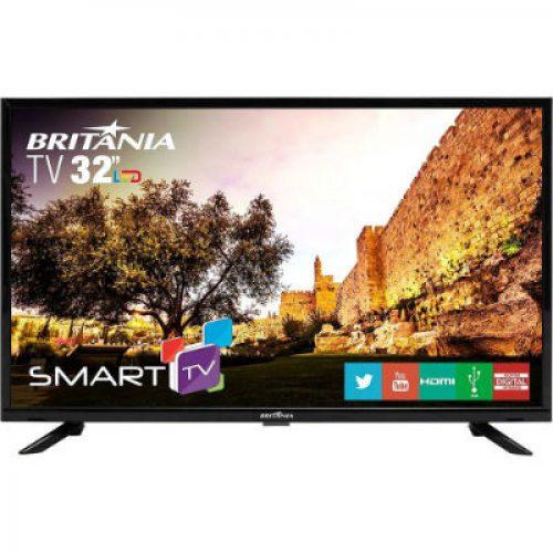 2dfc24d22 Smart TV LED 32″ Britânia BTV32G51SN HD com Conversor Digital 2 HDMI 1 USB  Wi